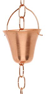 Bell Shape Copper Rain Chains