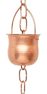 Pot Shape Copper Rain Chains